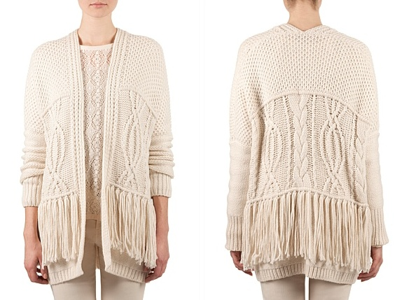 This cardigan knit from Country Road is a cashmere, cotton, angora and merino wool blend. One to keep you warm in winter.