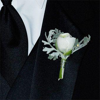 Ranunculus And Dusty Miller Boutonniere | www.pixshark.com ...