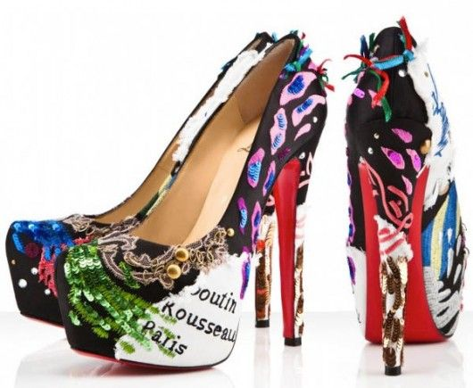 In Love! Sad at the price though. $2,295 Christian Louboutin Daffodile Brodee Pumps