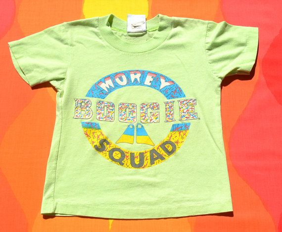 vintage 80s kid's tee shirt MOREY boogie squad surf by skippyhaha