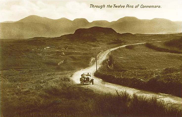 Old Photos of Co Galway, Connemara, Travelling through the Twelve Pins early 1900s