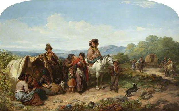 """""""The Breaking-Up of the Camp"""", 1855, by James Curnock (British, 1812-1862)."""
