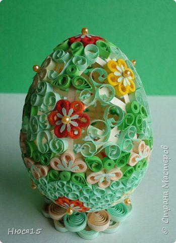 Поделка изделие Пасха Квиллинг Пасхальные яйца часть 4 Бумажные полосы фото 9
