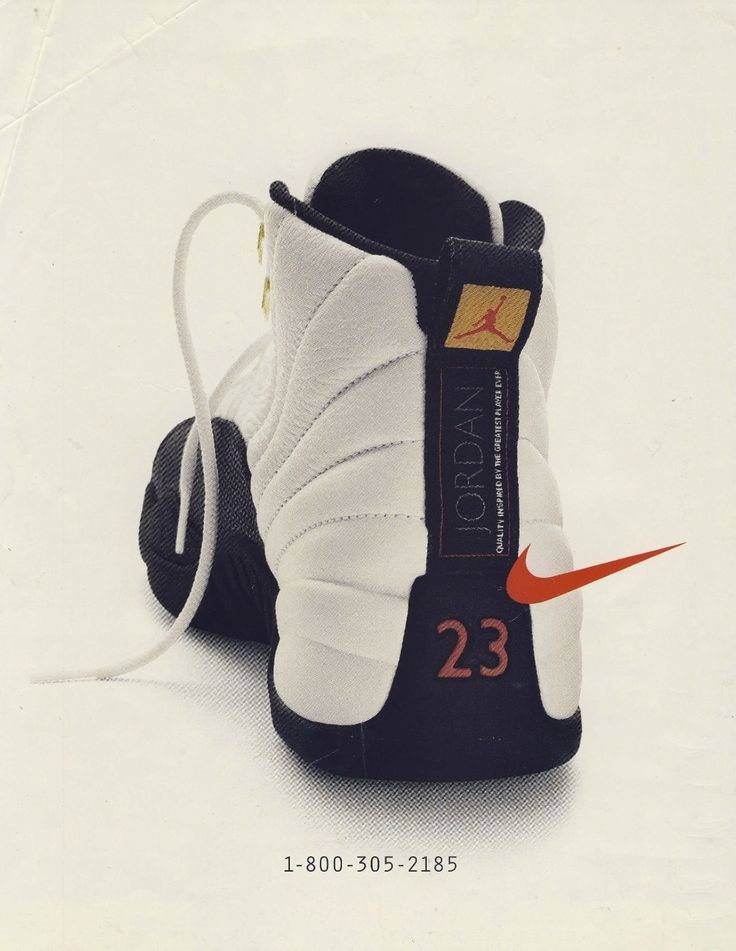 Vintage Ad - Jordan 12's. I remember seeing this ad in SLAM.