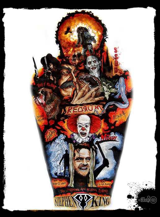 Stephen King, Keyhole, Collage