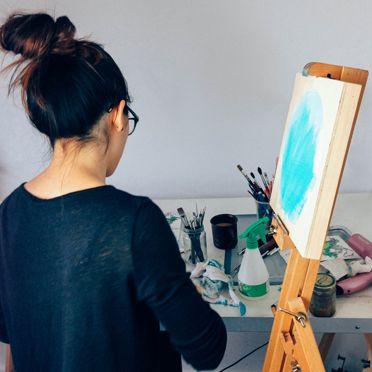 Working in my studio...
