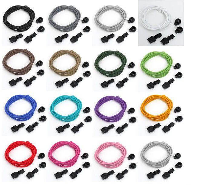 Colourful Elastic Sports Laces Lock Shoelaces Triathlon Trainer Running Jogging #UnbrandedGeneric