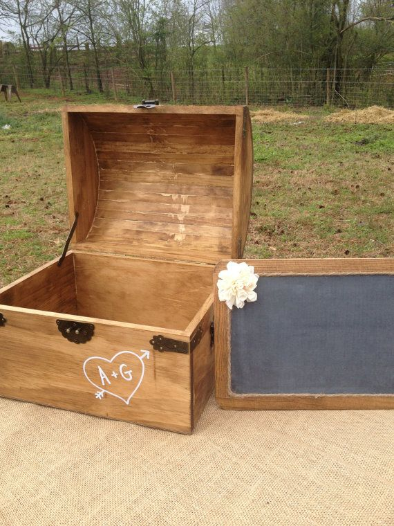 EXTRA Large Rustic Wooden Card Box  Rustic by CountryBarnBabe, $69.00