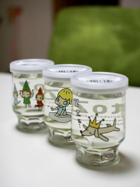 Sake Cups designed by Yoshitomo Nara|奈良美智デザインのワンカップ酒 Not just wine and beer come in single serve #packaging. PD