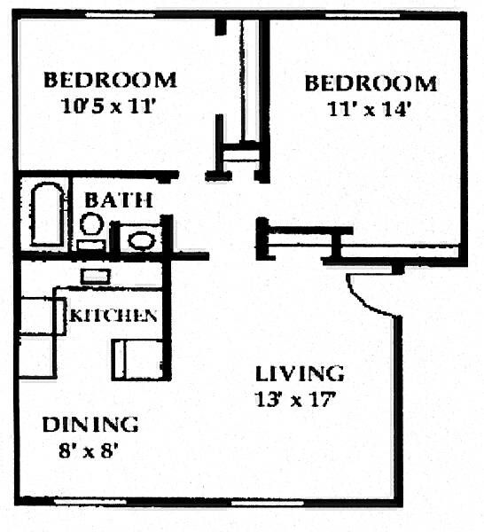 Our Two Bedroom Apartment House Design Pinterest