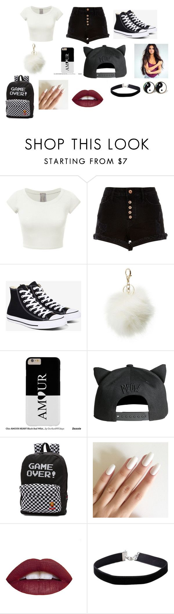 """""""Yin & Yang"""" by mindless2misfit ❤ liked on Polyvore featuring River Island, Converse, Charlotte Russe, Vans and Miss Selfridge"""