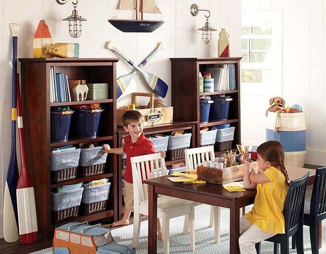 Pottery Barn Kids Cameron Nautical Playroom Pbk