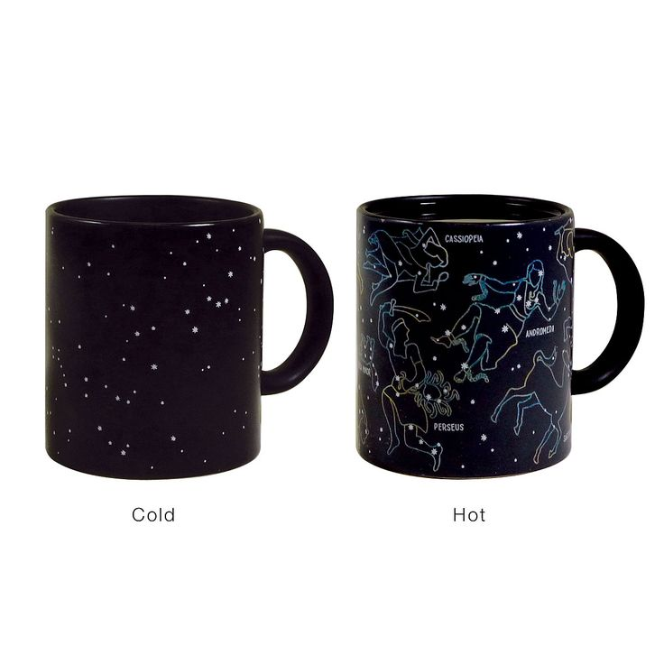 Watch the stars come out when you pour hot liquid in this Constellation Mug | UncommonGoods