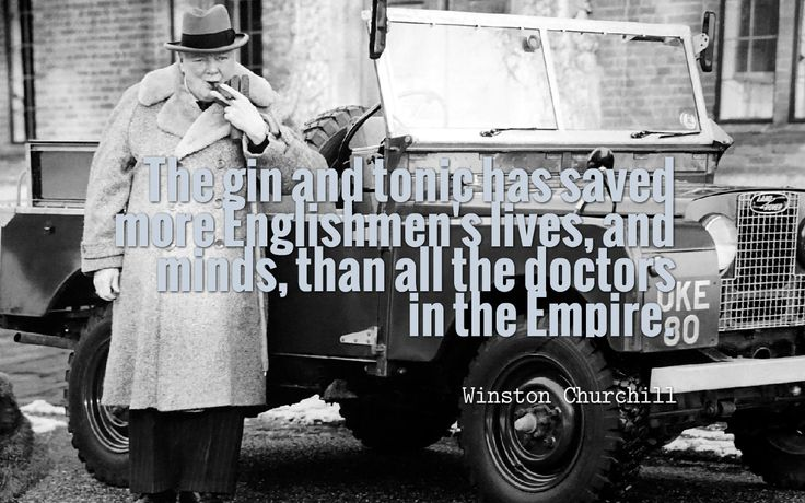 Glorious quote about gin from our very own Winston Churchill - one of Britain's most famous gin lovers!  #gin #quotes #quotestoliveby #churchill