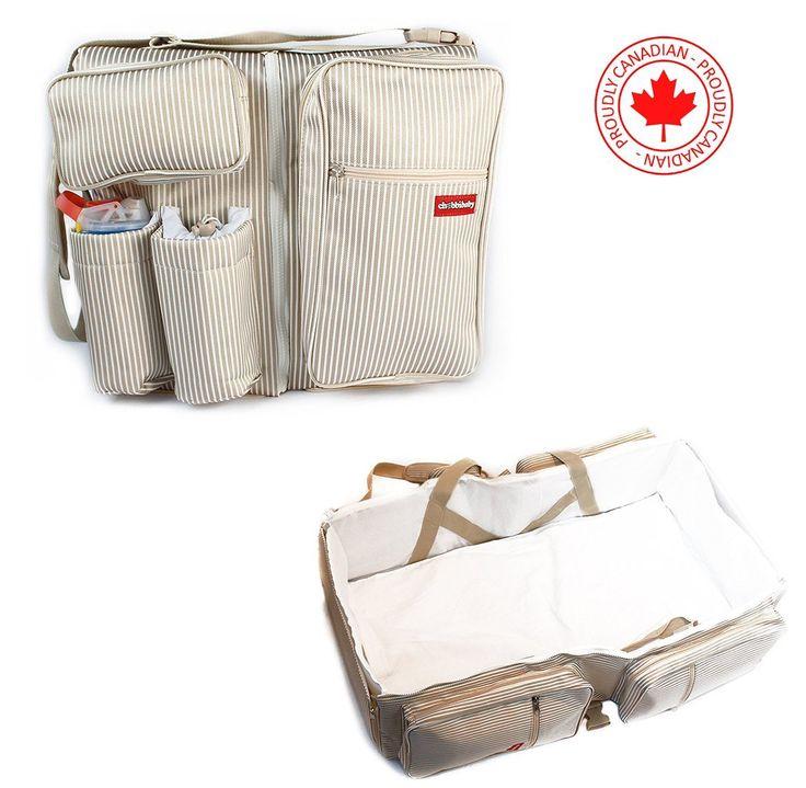 3 in 1 Premium Diaper Bag, Travel Bassinet, Change Station ...