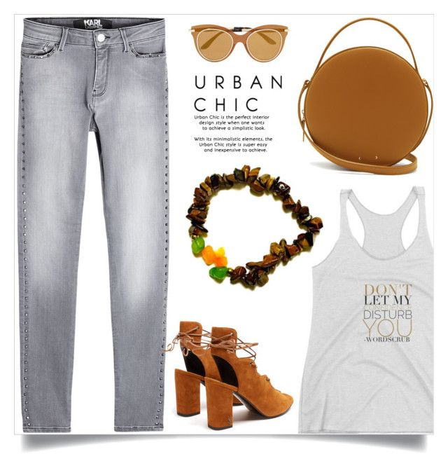 """""""Urban chic, (9)"""" by samra-bv ❤ liked on Polyvore featuring Karl Lagerfeld, Yves Saint Laurent, PB 0110 and Dolce&Gabbana"""