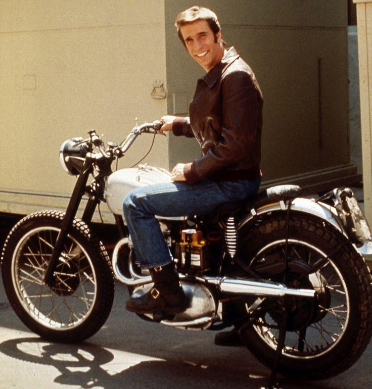 Happy Days! Fonz and 1949 Triumph Trophy 500 #Custom #motorcycle