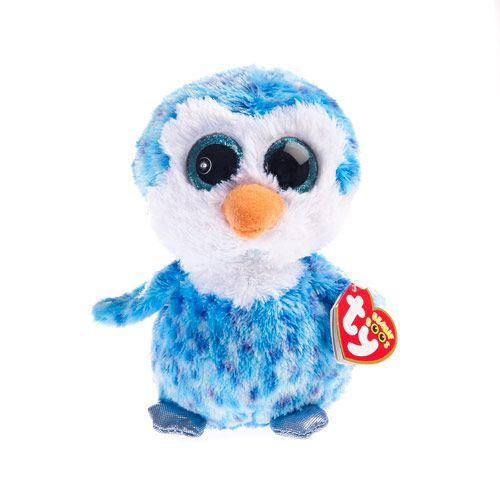 Medium TY Beanie Ice Cube the Penguin Soft Toy