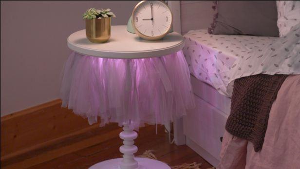 How to Make an Adorable LightUp Tutu Nightstand Kids