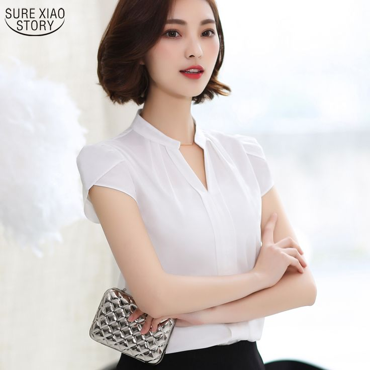 New Arrival 2016 Summer Autumn Fashion Women Blouses Petal Sleeve Short Sleeve Shirt Ladies Casual Office Formal Blouses 58G 25