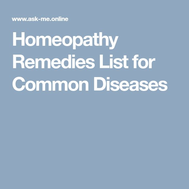 Homeopathy Remedies List for Common Diseases