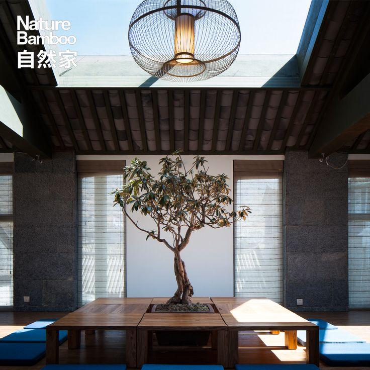 自然家NatureBamboo 苹果 酒店会所工程竹吊灯 新中式餐厅茶室灯-淘宝网