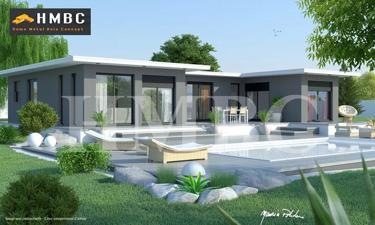 Maison moderne elysa 137 m2 hmbc home metal bois for Constructeur maison contemporaine 21