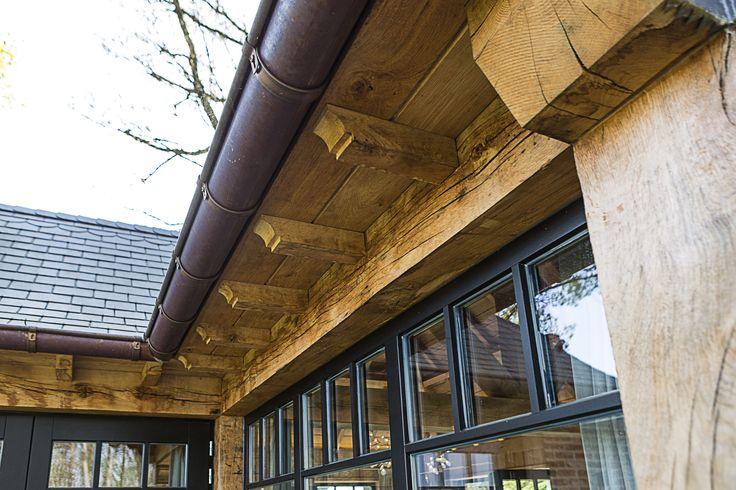 Zwarte Houten Ramen - Kruisverdeliing op maat - Timber Works