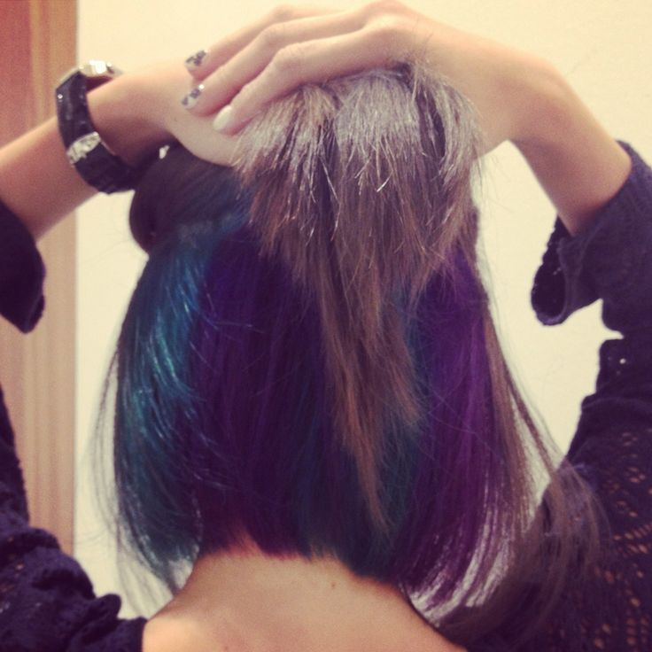Dark Brown Hair With Blue And Purple Highlights Cleo hair & make @ millenia