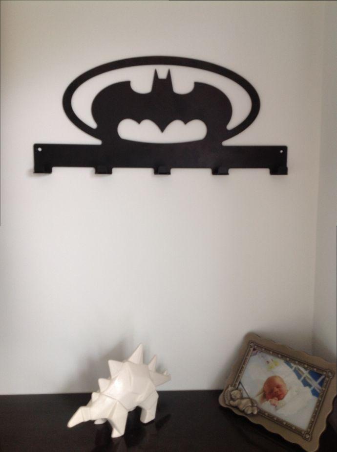 wall mounted coat rack - black anodised