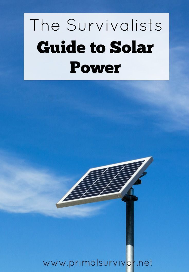 """The Survivalist's Guide to Solar Power. When it comes to off-grid living, it is the thought of going without electricity which gets to most people. This is what makes people scramble to buy pricey solar panel systems and keep them attached to the grid """"just in case."""" Let's think about this rationally. How much do you really need electricity?"""
