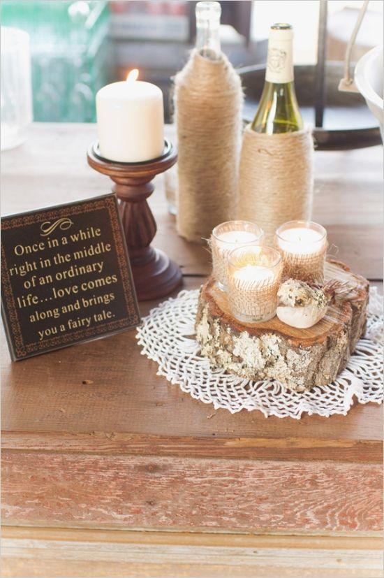 cute entrance table ideas #rusticwedding #weddingdecor #weddingchicks http://www.weddingchicks.com/2014/02/07/red-and-orange-fall-wedding/