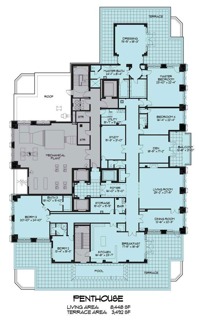 penthouse floor plans 57 best Floor Plans