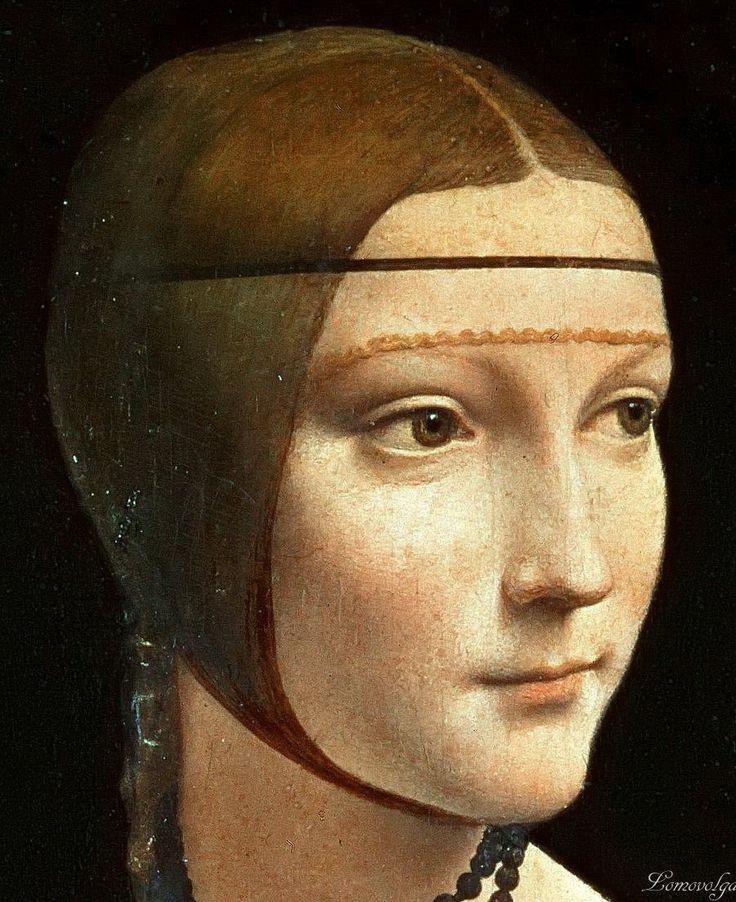 Leonardo da Vinci, Die Dame mit dem Hermelin / Lady with an ermine (detail)