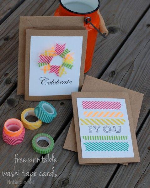 printable washi tape cards