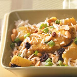 Coconut Curry Chicken Recipe from Taste of Home  #slow_cooker  #crockpot
