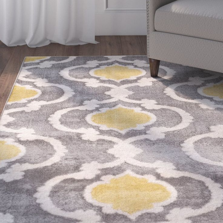 Andover Mills Melrose Gray Area Rug