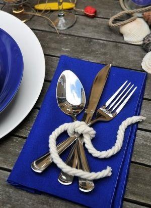 Table Set for the nautical wedding :)