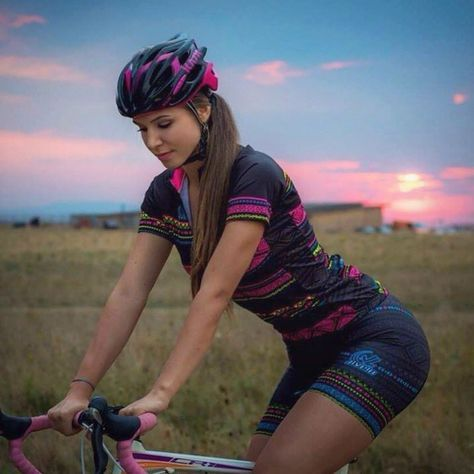 JLVelo Women's Tribal Cycling jersey and short are so soft and comfy they will become your favorite!  Made in the US.