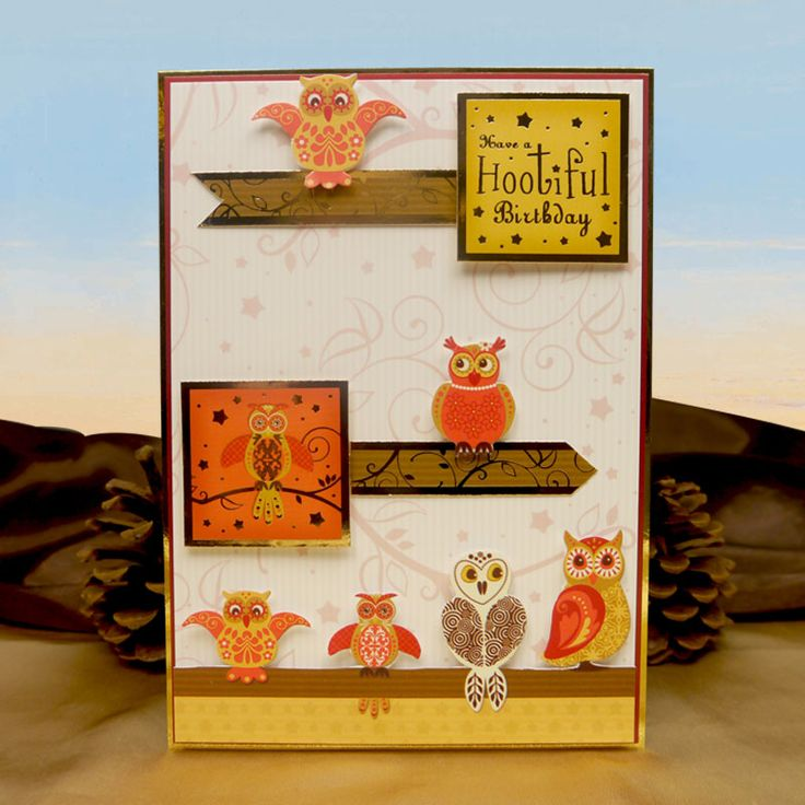 Hootiful Night | Hunkydory Crafts Thoughts of Autumn die cut toppers & co-ordinating card