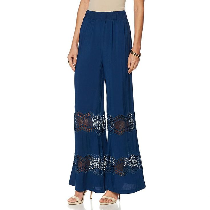 Colleen Lopez Sunny Coast Lace Pant - Blue