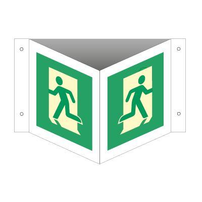 Nødutgang - Kjøp Vinkelskilt med etterlysende online