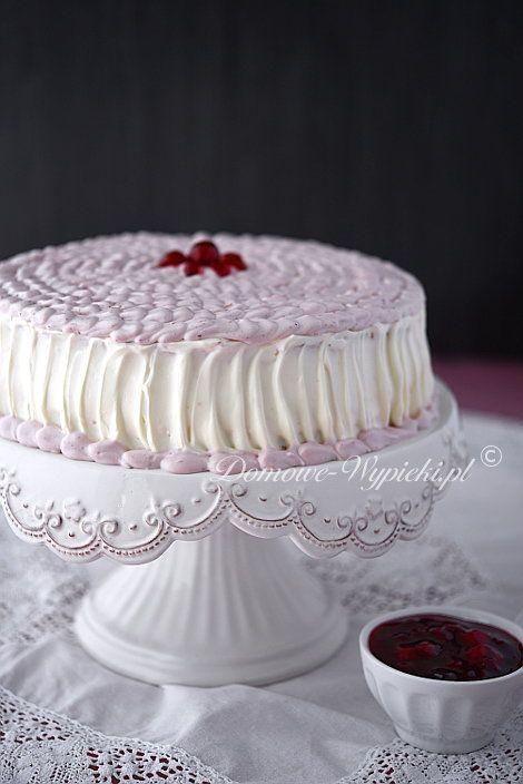 Tort wiśniowy z kremem mascarpone