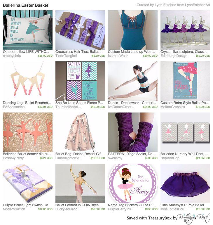 Handmade Easter Basket Ideas for girls--an Etsy treasury by Lynn Esteban Art