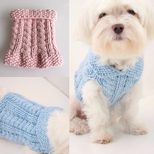 DOG DIY: Knitting cute little dog sweaters for charity! Easy to follow pattern from Etsy!