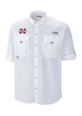 Outdoor Custom Sportswear Mississippi State Bahama Ii Button Down - White - Xl
