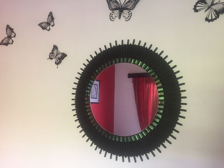 This was made from the plastic teaspoon handles, which I sprayed black