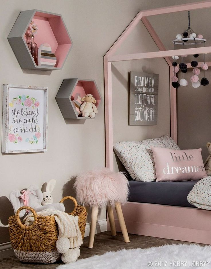 Pink Pastel Bedroom Girls Decor Kids
