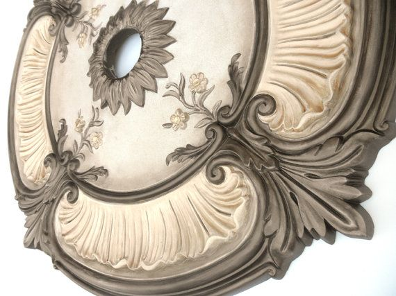 Painted Ceiling medallion  ACANTHUS LEAF bronze by accentbydesign