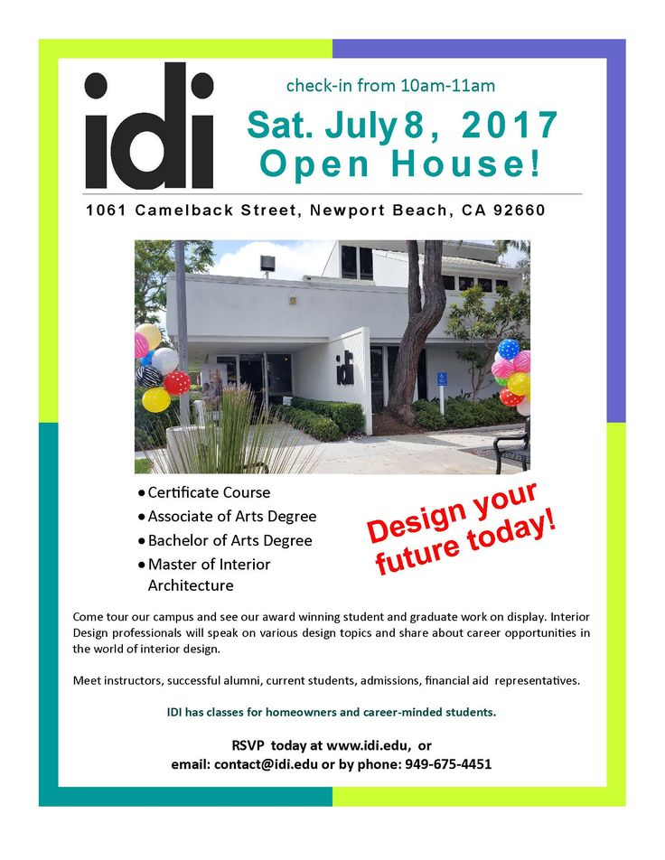 RSVP For The Sat July Meet Faculty And Graduatues At Edu Take Your Flair Interior Design To Next Level